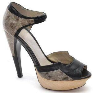 Jason Wu Open Toe Ankle Strap Platform Heels sz 38